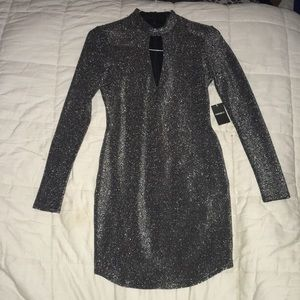 F21 Metallic Mini Dress